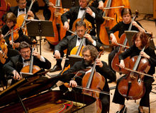 先生交响乐团的乐队执行 免版税库存照片