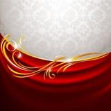 背景窗帘织品灰色红色 库存图片