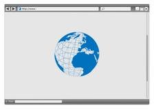 浏览器向量万维网 库存图片