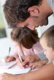 家庭作业时间 免版税库存照片