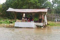 洪水食物停转 库存图片