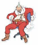 圣诞老人休眠 库存图片