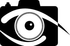 照相机眼睛徽标 免版税库存照片