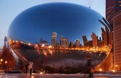 豆芝加哥云彩门伊利诺伊 库存图片