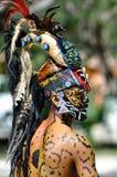 古老玛雅战士 免版税库存照片