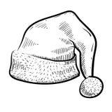 盖帽圣诞老人草图 图库摄影