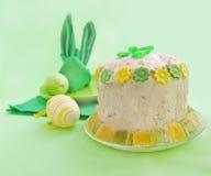 被建立的复活节表单兔子餐巾 免版税库存图片