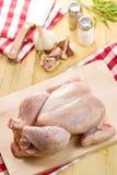 原始鸡的肉 库存照片