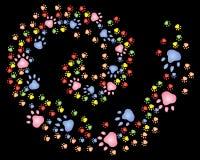 спираль печати лапки Стоковое Фото