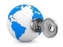背景关键空白世界 免版税库存照片