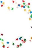 圣诞节五颜六色的星形 库存照片