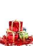 圣诞节礼品栈 免版税图库摄影