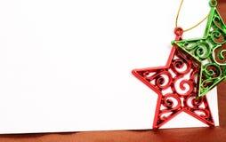 看板卡圣诞节装饰担任主角二 库存照片