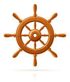 木海洋船葡萄酒的轮子 图库摄影