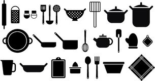 厨房器物 库存照片