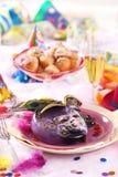 狂欢节餐位餐具 免版税图库摄影