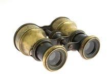 双筒望远镜军事老 免版税库存图片