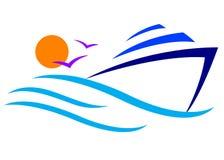 логос шлюпки Стоковые Фотографии RF