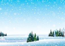 横向向量冬天 图库摄影
