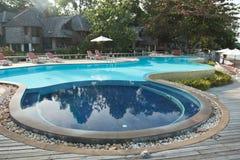 海滩前池游泳 库存照片