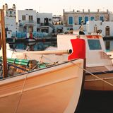 渔船在港口 免版税库存图片