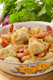 西莱亚西饺子的土豆 免版税库存照片