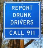 выпитый водителями знак рапорта Стоковое Изображение RF