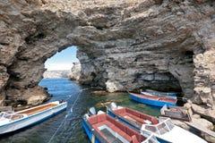 克里米亚半岛的峭壁 库存照片