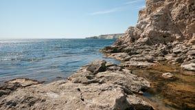 克里米亚半岛的峭壁 图库摄影