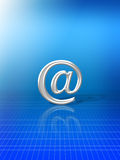 在别名符号电子邮件 免版税库存图片
