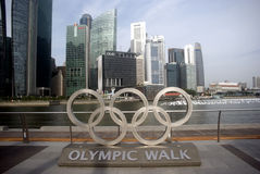 όψη Σινγκαπούρης πόλεων Στοκ Εικόνες