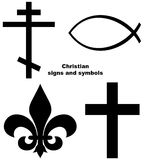 знаки христианки установленные Стоковое Изображение