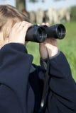 双筒望远镜查找 库存图片