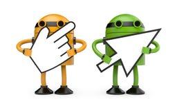 游标机器人 免版税图库摄影