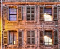 средневековые окна комплекта Стоковая Фотография