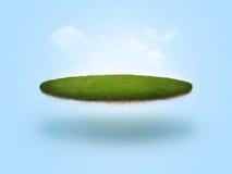 浮动的高尔夫球绿色 库存图片