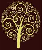 漩涡结构树 免版税图库摄影