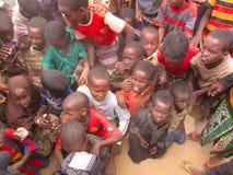 阵营饥饿难民 库存照片