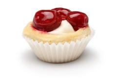 樱桃杯形蛋糕 图库摄影