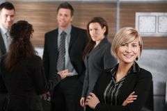 Νέα επιχειρηματίας που έχει τη σταδιοδρομία Στοκ Εικόνα