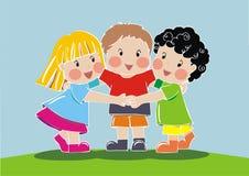 儿童朋友组 库存图片
