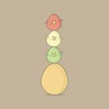 复活节鸟鸡蛋 免版税图库摄影