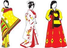азиатские девушки Стоковое Изображение