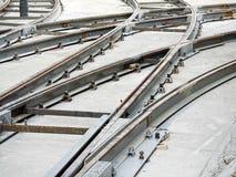 τροχιοδρομική γραμμή διαδρομής κατασκευής Στοκ εικόνα με δικαίωμα ελεύθερης χρήσης