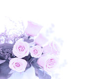 花束新鲜的桃红色玫瑰 图库摄影