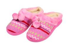 桃红色拖鞋 库存照片