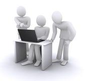 在企业计算机合作伙伴附近 免版税库存图片