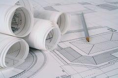 建筑师计划 免版税库存图片