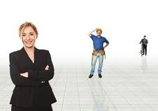 εργαζόμενοι πορτρέτου Στοκ φωτογραφία με δικαίωμα ελεύθερης χρήσης