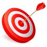 箭头目标 免版税库存图片